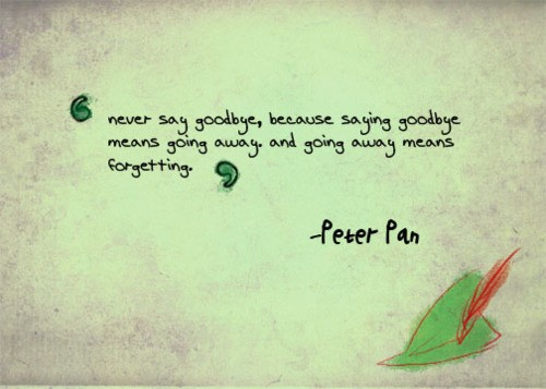 Peter Pan Homesickness